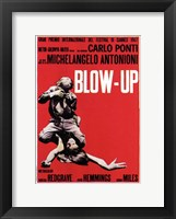 Framed Blow Up Black, White & Red