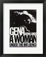 Woman Under the Influence Gena Rowlands Framed Print