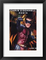 Batman Forever Chris O'Donnell as Robin Framed Print