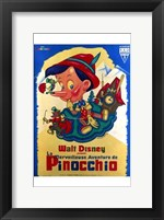 Framed Pinocchio French