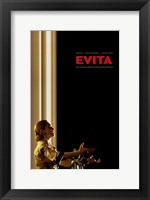 Framed Evita Singing