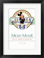 Framed Mickey Mouse 60Th Anniversary Gallery