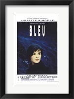 Framed Trois Couleurs: Bleu Film In French
