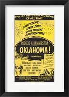 Framed Oklahoma Musical