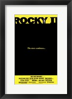 Framed Rocky 2 The Story Continues...