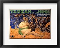 Framed Tarzan of the Apes, c.1917 (Spanish) - style A
