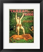 Framed Tarzan of the Apes, c.1917 (Spanish) - style B