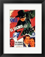 Framed Mark of Zorro Power (spanish)