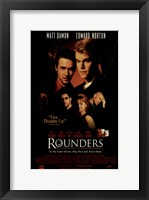 Framed Rounders - Matt Oamon