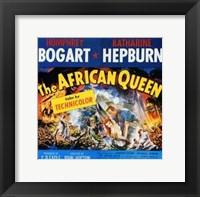 Framed African Queen Humphrey Bogart & Audrey Hepburn