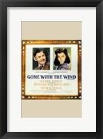 Framed Gone with the Wind Framed Clark Gable & Vivien Leigh