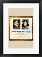 Framed Gone with the Wind Framed Clark Gable & Vivien Leigh