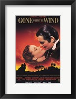 Framed Gone with the Wind Scarlett O'Hara & Rhett Butler
