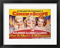 Framed How to Marry a Millionaire, c.1953 - style B
