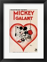 Framed Mickey Mouse - heart