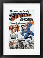 Framed Superman Comic to Movie