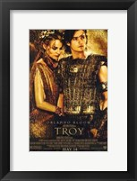 Framed Troy Helen of Troy and Paris