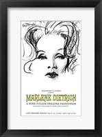 Framed Marlene Dietrich - drawing