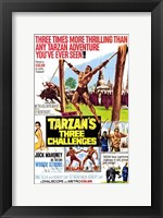 Framed Tarzan's Three Challenges, c.1963