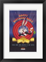 Framed Amc Theatres Bugs Bunny's 50Th