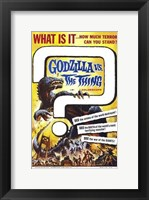 Framed Godzilla Vs the Thing