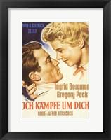 Framed Spellbound Ingrid Bergman and Gregory Peck