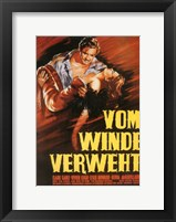 Framed Gone with the Wind Vom Winde Verweht