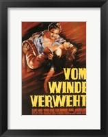 Framed Gone with the Wind Vom Winde Verweht