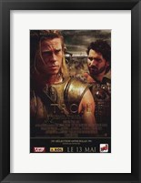 Framed Troie - Troy Orlando Bloom and Brad Pitt