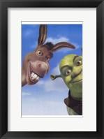 Framed Shrek 2 Donkey and Shrek