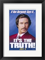 Framed Anchorman: the Legend of Ron Burgundy