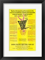 Framed Funny Girl Yellow