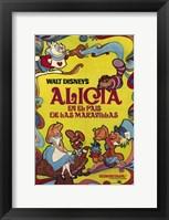 Framed Alice in Wonderland (spanish)