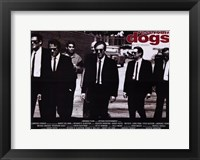 Framed Reservoir Dogs Black and White