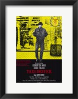 Framed Taxi Driver Yellow