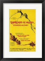 Framed Lawrence of Arabia Yellow