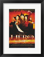 Framed Hero Jet Li Cast
