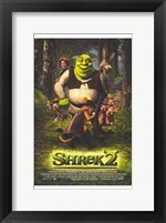 Framed Shrek 2 Cast