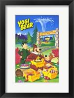 Framed Yogi Bear - cartoon