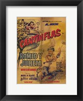 Framed Romeo and Juliet (spanish) cantinflas
