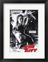 Framed Sin City Jessica Alba as Nancy B&W