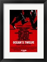 Framed Ocean's Twelve Red