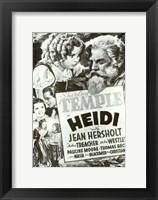 Framed Heidi Black And White Film Poster