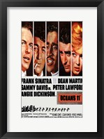 Framed Oceans 11 Cast