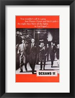 Framed Oceans 11 Black and White with Red
