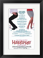 Framed Hairspray - legs and music notes