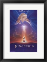 Framed Pinocchio Wish Upon a Star