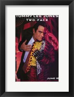Batman Forever Tommy Lee Jones as Two-Face Framed Print