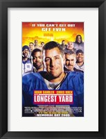 Framed Longest Yard Adam Sandler