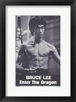 Framed Enter the Dragon Burce Lee Black and White